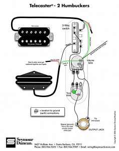 sch ma de montage pour guitare fender telecaster 2 humbuckers rh customdecal fr 5-Way Strat Switch Wiring Diagram Fender Pickup Wiring Diagram