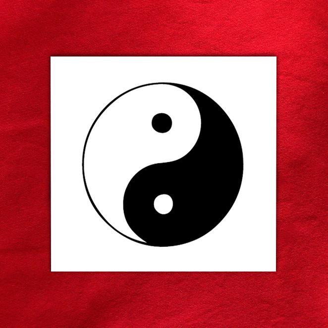 D calcomanies eau sur le th me des symboles pour for Deco ying yang