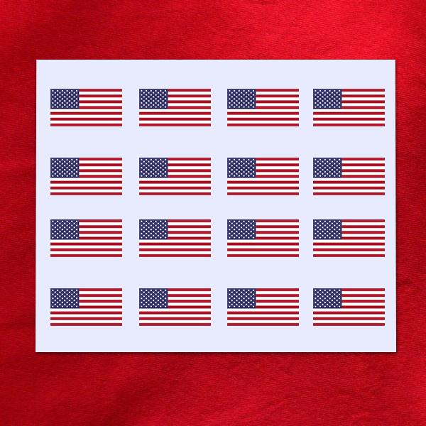 Décalcomanie Drapeau Américain Usa Dimension Au Choix
