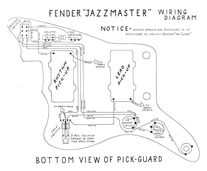 sch u00e9ma de montage    cablage pour guitare fender jazzmaster